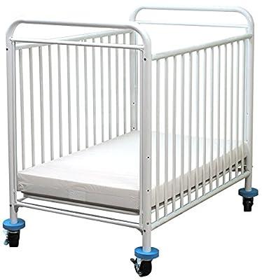LA Baby Condo Metal Window Crib, White from LA Baby