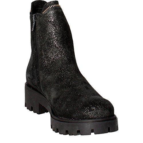 boot and ankle Girl glitter lateral of sole elastic lateral Girls with Child Black insert rubber with CULT Charcoal Women made Grey zipper leather 6pxq4EU4w5