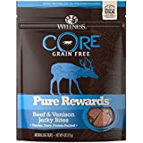Wellness Core® Pure Rewards Natural Grain Free Dog Treats, Soft Beef & Venison Jerky Bites, 4-Ounce Bag