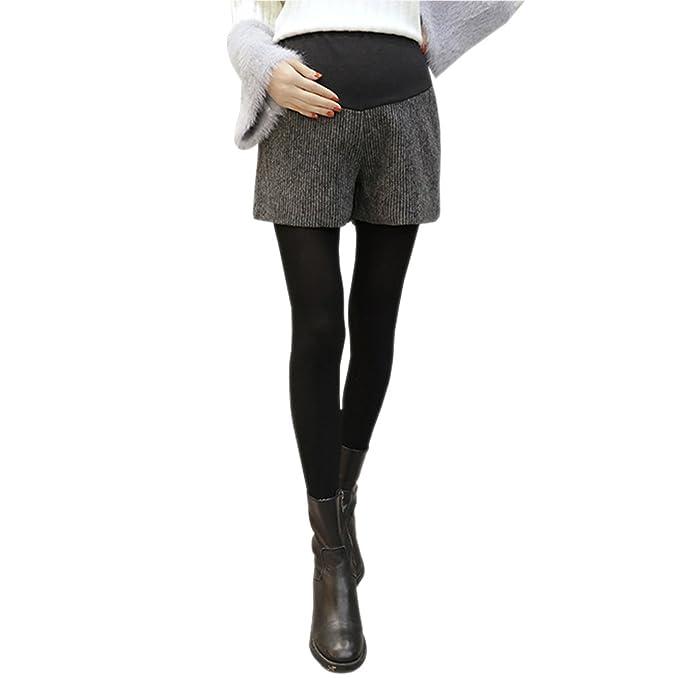 BOZEVON Corto Pantalones para Mujeres Elegantes Casual Otoño Invierno Femeninas