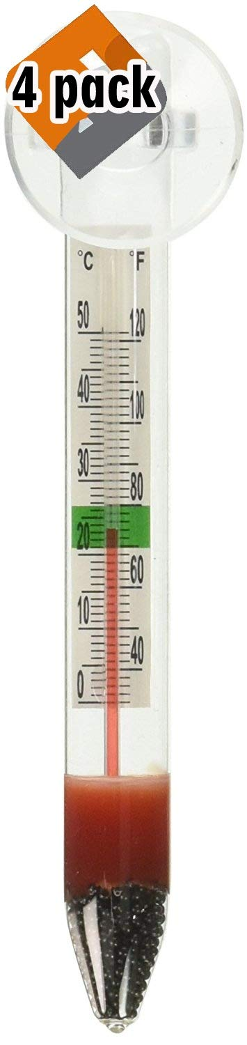 Marina Floating Thermometer with Suction Cup, Pack 4 by Marina.