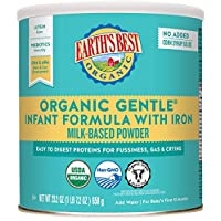 Earth's Best Organic Gentle Infant Powder Formula with Iron, Easy To Digest Proteins...