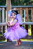 Baby Tutu Set with Fairy Wings and Headband in Purple