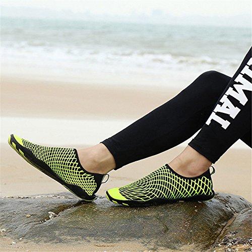 Surfschuhe Unisex Aquaschuhe Gelb Wasserschuhe Barfuß Eagsouni Herren Strandschuhe Badeschuhe Schwimmschuhe Schuhe Damen für 3 18EqdCw