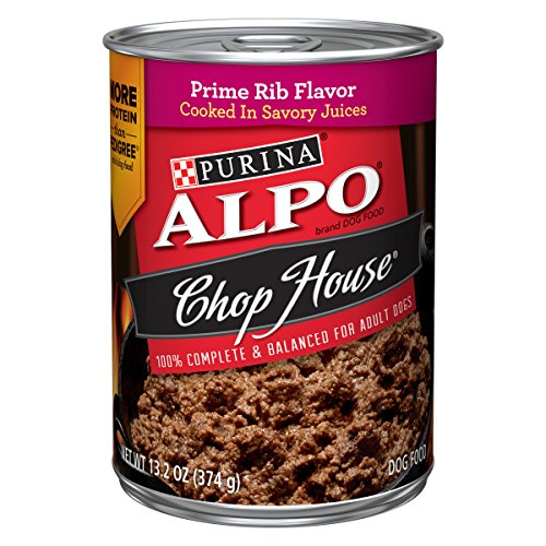 Purina ALPO Chop House Prime Rib Flavor Adult Wet Dog Food – Twelve (12) 13.2 oz. Cans