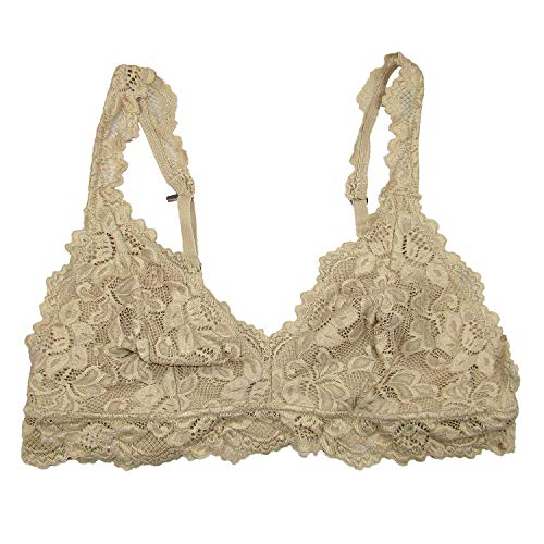 Undie Couture Classic Lace Bralette (Nude, Small)