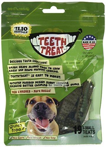 Ilio Dentals Teethtreat Dog Dental Treats, X-Small, 17 Treats