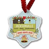 Add Your Own Custom Name, US Gardens Jacksonville Zoo and Gardens - FL Christmas Ornament NEONBLOND offers