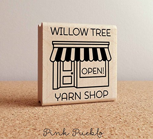 Square Personalized Rubber Stamp - Personalized Shop Rubber Stamp, Custom Business Rubber Stamp, Handmade By Stamp, Handmade By Rubber Stamp