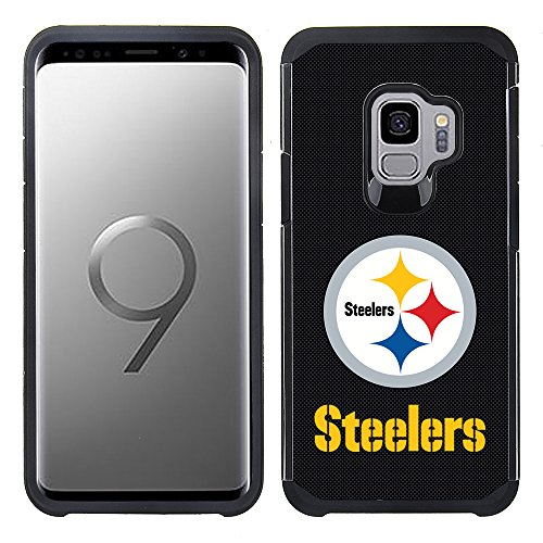 Prime Brands Group Textured Team Color Cell Phone Case for Samsung Galaxy S9 - NFL Licensed Pittsburgh Steelers ()
