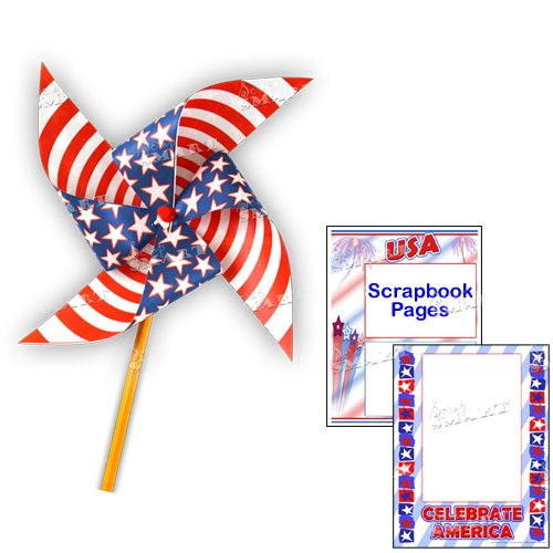 Scrapsmart - Patriotic Party Software Kit - Jpeg, Pdf, and Microsoft Word Files (CDPATPA170) by STORE SMART (Image #7)