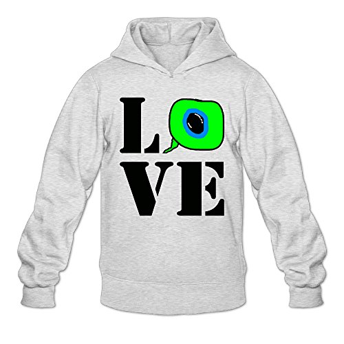 AK79 Men's Hoodie LOVE Jacksepticeye Eyeball Size M Ash
