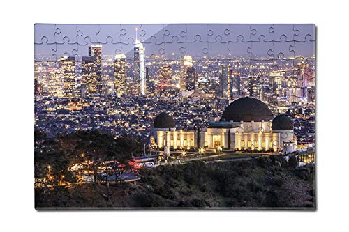 Los Angeles, California - Griffith Observatory Park - Photography A-92159 (12x18 Premium Acrylic Puzzle, 130 Pieces)