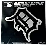 "Stockdale Detroit Tigers 6"" Metallic MAGNET Silver Style Vinyl Die Cut Auto Home Baseball"