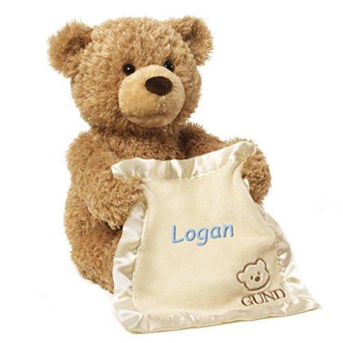 Baby Peek A-boo Bear - Personalized Peek A Boo Plush Toy (Brown Peek A Boo Bear)