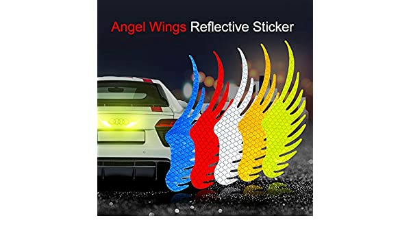 10Pack Reflective Stickers Light Warning Car Strip Reflective Truck Accessories Red /& White