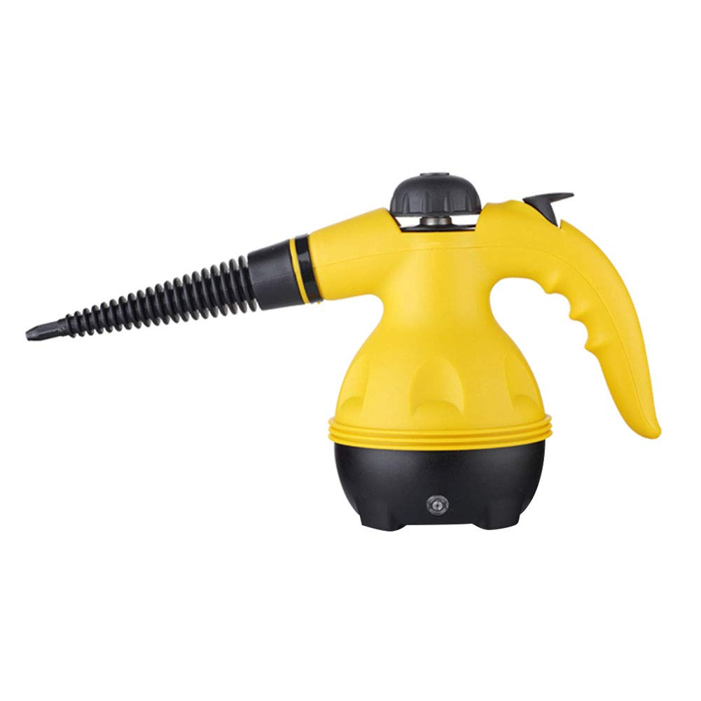 Q&Z Handheld Multi-Purpose Pressurized Steam Cleaner with 9 Attachments Steam Mop Chemical-Free Steam Cleaning for Stain Removal Windows Carpets Floor Car Seats Yellow