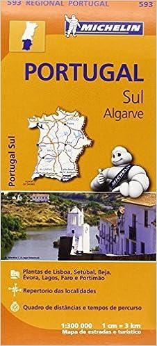 Portugal Sul Algarve Michelin Regional Maps Map Amazon Com