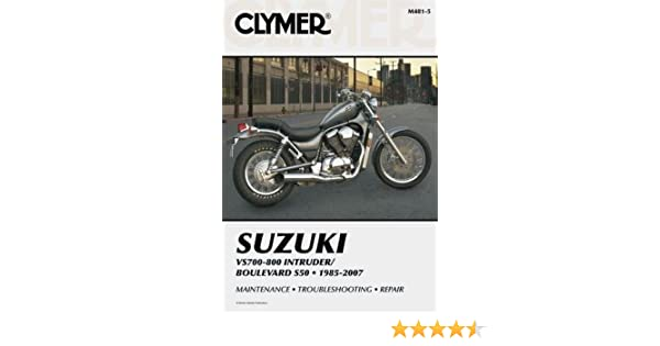 amazon com clymer repair manual for suzuki vs700 vs750 vs800 85 07 rh amazon com suzuki intruder 800 service manual pdf suzuki intruder vs 800 owner's manual