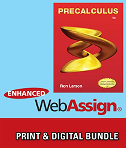 Bundle: Precalculus, 9th + WebAssign Printed Access Card for Larson's Precalculus, 9th Edition, Single-Term