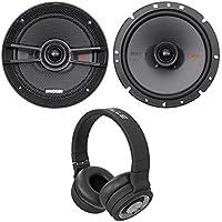 Pair Kicker 44KSC6704 KSC670 6.75 400 Watt 2-Way Car Speakers KSC67+Headphones