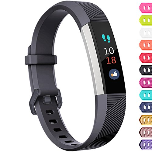 Ouwegaga Compatible for Fitbit Alta Bands and Fitbit Ace Bands for Kids Small Grey