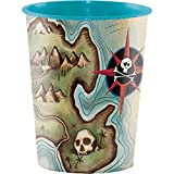 Creative Converting Plastic Keepsake Cups, Pirate's Map (12-Count)
