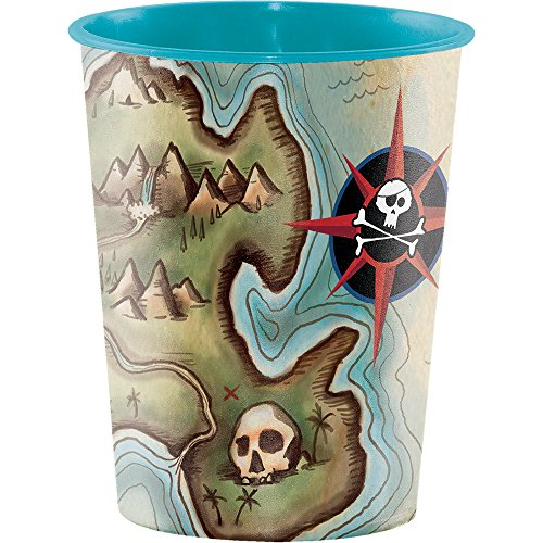 Pirate Cup (Creative Converting Plastic Keepsake Cups, Pirate's Map (12-Count))