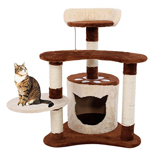 29'' Cat Tree Tower Condo Furniture Scratching Post Pet Kitty Play Toy House + FREE E-Book by Eight24hours