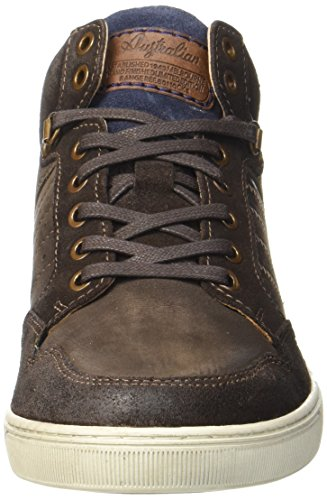 AUSTRALIAN Weatherspoons Leather, Sneaker a Collo Alto Uomo Braun (Brown-blue-off White)