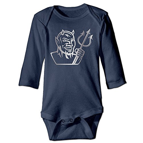[Baby Boys Girls Fredonia State Blue Devils Platinum Logo Long-sleeve Romper Jumpsuit] (Devil Girl Outfit)
