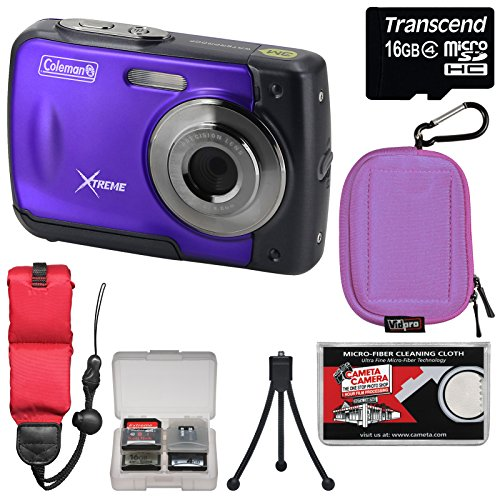 coleman-xtreme-c20wp-shock-waterproof-hd-digital-camera-purple-with-16gb-card-case-floating-strap-tr