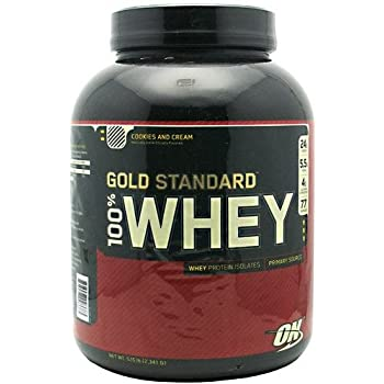 OPTIMUM NUTRITION 100% WHEY GOLD,COOKIES, 5.15 LB