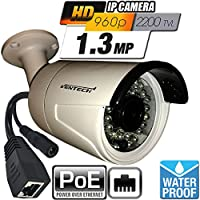 Ventech VT-R896IP 1.3 Megapixel 960P HD Indoor Outdoor POE IP Bullet Camera network Surveillance Security Camera with 3.6mm Lens - No Power Supply