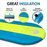 Self Inflating Sleeping Pad - Sleeping Pad - Lightweight Sleeping Pad - Mat for Camping Hiking Backpacking - Premium Insulated Sleeping Mattress for Outdoors - Comfortable Pad for Men and Women