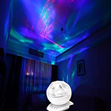 StillCool Ocean Wave Projector Color Changing Led Night Light Lamp/Realistic Aurora Borealis Projector (white)
