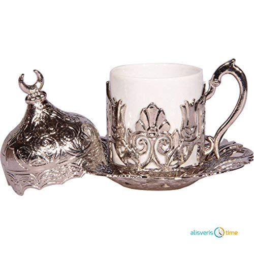 Alisveristime 27 Pc Ottoman Turkish Greek Arabic Coffee Espresso Serving Cup Saucer (Hilal) by Alisveristime (Image #4)