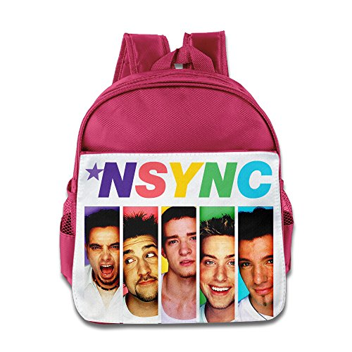 HYRONE Nsync Poster Kids Shoulders Bag For 1-6 Years Old Pink (Justin Timberlake Nsync Costume)