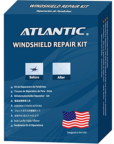 Atlantic Windshield Repair Kit for 1-3 Chips, Fix All Most of Chips, Cracks, Bull Eyes