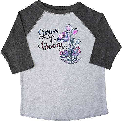 inktastic - Grow and Bloom with Toddler T-Shirt 2T 3/4 Sleeve Heather Smoke