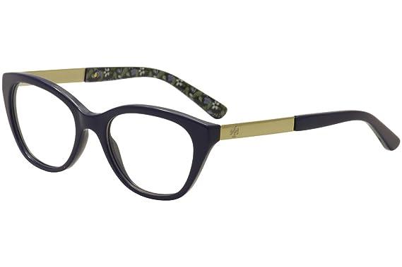 a02fd80576 Amazon.com  Tory Burch TY2059 Eyeglass Frames 1520-51 - Navy Gold ...