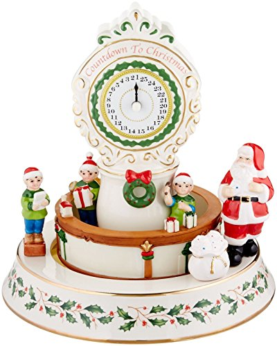 Lenox 2016 Countdown To Christmas Musical Centerpiece Figurine Carousel Clock LED