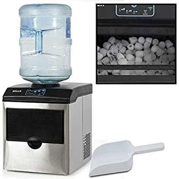 Della Stainless Steel Water Dispenser w/ Built-In Ice Maker Machine Counter Portable, 40-Pound