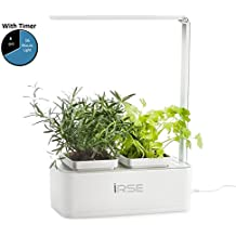 iRSE Indoor Garden Kit, Hydroponics LED Growing System, 2 Self Watering Gardening Pots, including (Lettuce Seeds, Fertilizers, Planting media)
