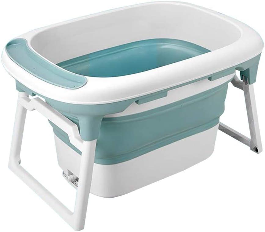 バスタブ 3-in-1ポータブルキッドスイミングプール 家庭用子供用浴槽 折り畳み式の新生児用浴槽 安定した 折りたたみ式収納 75X55X45CM GYF (Color : Green)