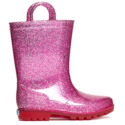 ZOOGS Kids Glitter Rain Boots for Girls, Boys,