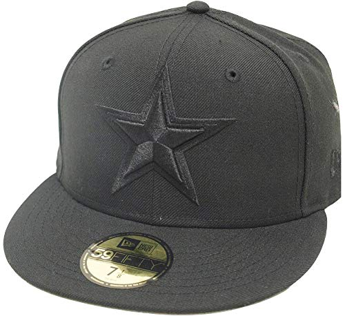 New Era Dallas Cowboys Star Black On Black Cap 59fifty 5950 Fitted Limited Edition