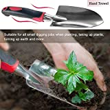 FANHAO Garden Tool Set, 5 Piece Aluminum Heavy Duty Gardening Gifts Tool Set with Non-Slip Rubber Grip for Men and Women
