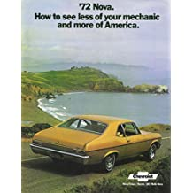 A MUST FOR OWNERS & RESTORERS - THE 1972 CHEVY NOVA DEALERSHIP COLOR SALES BROCHURE - ADVERTISMENT FOR Custom, SS, Super Sport, Coupe. - CHEVEROLET 72
