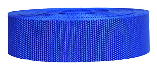 Strapworks Heavyweight Polypropylene Webbing - Heavy Duty Poly Strapping for Outdoor DIY Gear Repair, 1.5 Inch x 10 Yards, Royal Blue
